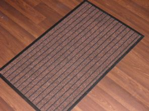 NON SLIP DOORMATS 50X80CM RUBBER BACKING GOOD QUALITY ALL COLOURS BEIGES BARGAIN